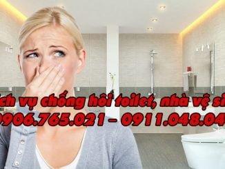 dịch vụ chống hôi toilet nhà vệ sinh